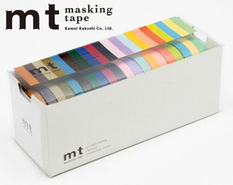 MT Washi Masking Tapes Set of 20 Colors - Each Tape is 7mm Wide x 10 Meters Long