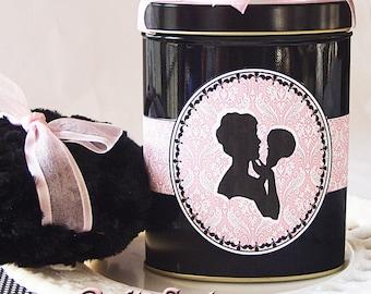 Dusting Powder SAMPLER with Powder Puff (Powder Puff Girl Silhouette Sampler - 3 fragrances)