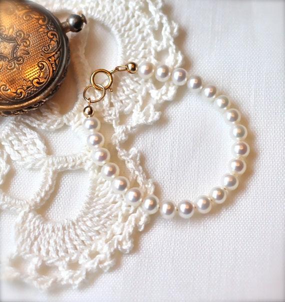 Infant Pearl Bracelet Infant Jewelry Baby Girl Pearl Bracelet