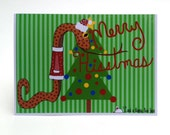 Merry Hisstmas Snake Christmas Greeting Card
