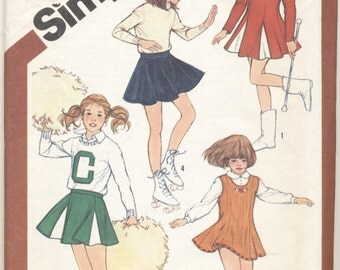 Pattern for Cheerleader and Skating Costume Girls Sizes 7 & 8
