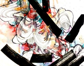 8x10 abstract art print. Watercolor art, contemporary art print.