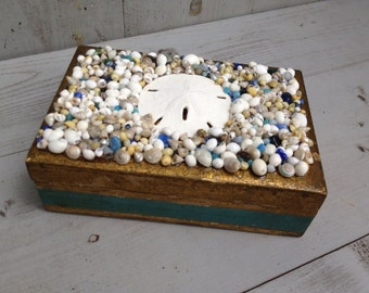 Vintage Florentine Seashell Box/Italian Florentine Box