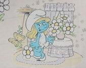 Vintage Smurfette Fabric
