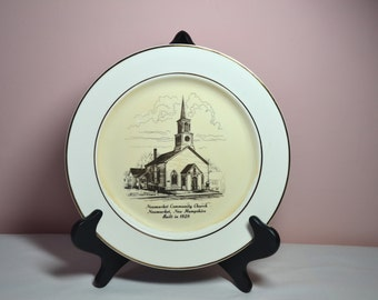 Vintage Collectible Decorative Commemorative Plate Newmarket Community Church New Hampshire - VC70