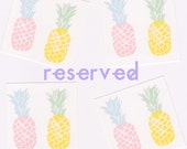 RESERVED FOR HAYLEY: 4 pineapple stickers