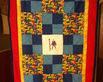 Superman Baby/Toddler Quilt