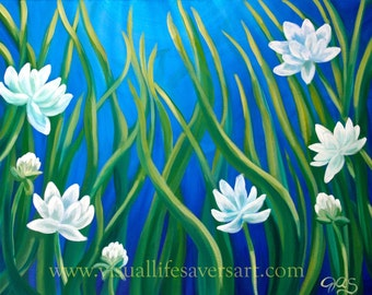 Tranquility Blossoms- original oil painting