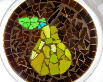Decorative Mosaic Stained Glass Plate