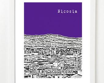 Nicosia Cyprus Skyline - Nicosia City Art Print Series - Nicosia Poster