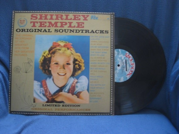 "Vintage, ""Shirley Temple"" Original Soundtracks, Vinyl LP, Record Album, Animal Crackers iN My Soup, Polly Wolly Doodle, Baby Take A Bow"