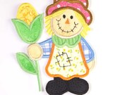 SCARECROW Applique and Embroidered Sew On Patch by Amy