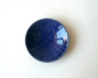 Leo Constellation Bowl in Midnight Blue with Gold Stars