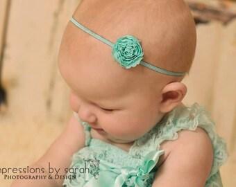 aqua headband..baby girls headband..girls aqua headband..newborn headband..baby headbands