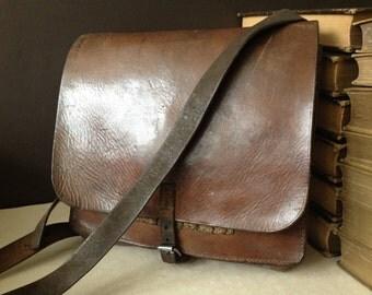 Swiss Army Leather Satchel Crossbody Messenger Document Carrier Handbag
