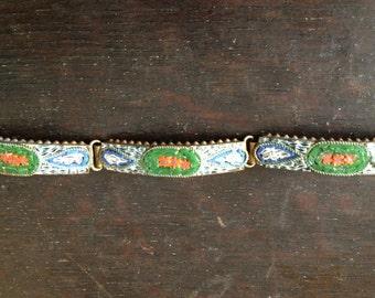 1920s Italian Mosaic Bracelet Artisan Micro Glass