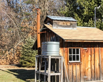 Sugar House for Homemade Maple Syrup in Massachusetts Print