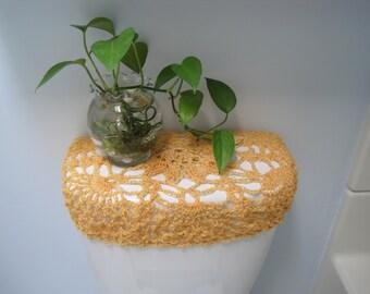 Crochet Toilet Tank Cover
