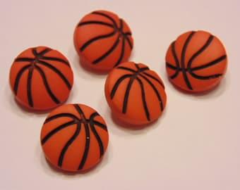 5 basketball buttons, 11 mm (7)