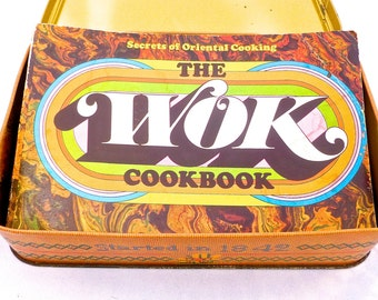 The Wok Cookbook, Secrets of Oriental Cooking, Asian Food Recipes, Vintage 1977, Cooking Ideas for Holidays, Illustrated Paperback
