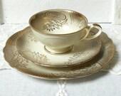 vintage teacup tea cup trio german porcelain tea cups german teacup grey and gold 3