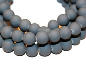 80pc Grey Loose Beads- Rubberized Glass beads/ Bracelet beads / Necklace Beads/ 8mm