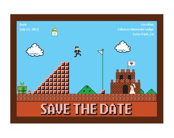 Nintendo Wedding Invitation Design 2