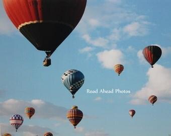 8 x 10 matted photograph, Hot Air Balloon, Balloon Fiesta, Albuquerque