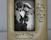 I have found whom my soul loves 5x7 Wedding Frame Gift Personalized date and location Couple Bridal Love Groom and Bride Gift