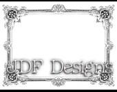 Instant Digital Download, Victorian Era Graphic, Ornate Ornamental Decorative Frame, Printable Image, Scrapbook