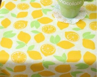 Waterproof Fabric Lemons on Yellow By the Yard 39425