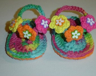 Infant Baby Crocheted Flip Flops