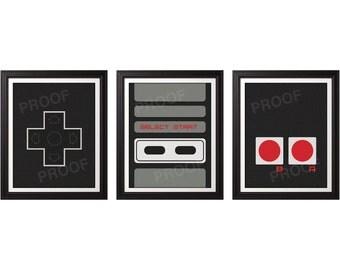 NES Controller Print Set - 8x10 Prints