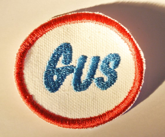 Retro round work shirt name patch great for kids clothes for Mechanic shirts custom name patch
