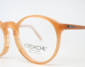 NOS Vintage Zyloware Jordache Tan  P3 Eyeglass Frames Retro Eye Glasses