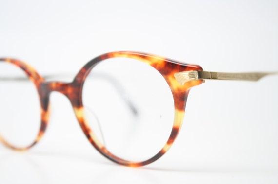Vintage Demi Amber Eyeglasses Gold Retro Eyeglass by ...