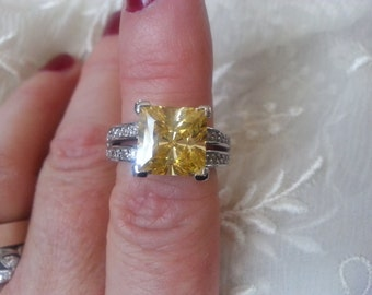 Canary Yellow Engagement Ring