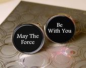 Mens Cufflinks, May The Force Be With You, Novelty Cufflinks