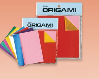 Origami Paper - double sided foil origami paper - 18 sheets of 6 inch double sided foil origami paper