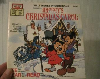Vintage Mickey's Christmas Carol book, holiday gift idea
