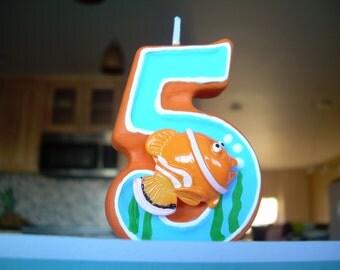 Fish Birthday Candle, under the sea birthday