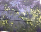 Gray and Green  Snow Dyed fat quarter  gg001fq