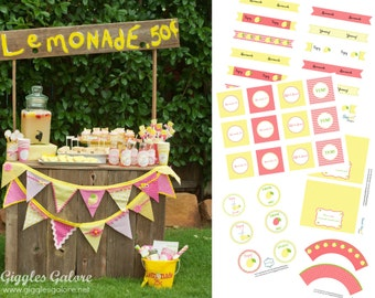 DIY Lemonade Stand Kit Party Printables