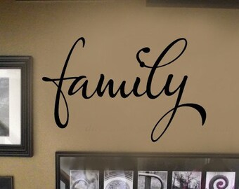 FAMILY picture wall display Vinyl Wall Lettering sayings Decal More Sizes & COLORS