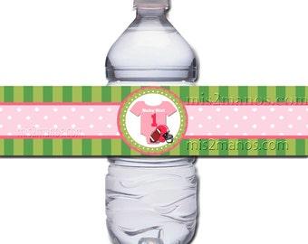 Water Bottle Label - Football Baby Shower Printable DIY Water Bottle Label - Instant Download