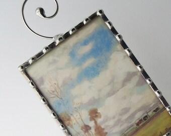 Night Light - Monet Painting Nightlight -  Vintage Image Nightlight - French - Hallway Bedroom Bathroom Lighting N27