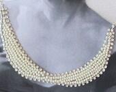 Pearl  Wedding, Collar Necklace,  Bridal Accessories, Weddings Collar, Jewelry,   Bridesmaids ,Choker, Rhinestone, Party, Prom, Fashion
