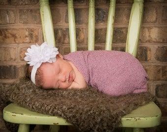 Baby Headbands, White Headband, Baby Girl Headband, Baby Bows Headband, Infant Headband, Headband, Newborn Head band