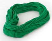 T-Shirt Necklace Lightweight Jersey Infinity Scarf // Kelly Green