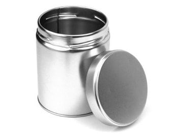 12 pcs, Wide Tea Tin Containers with Twistlug Lids - Second Quality